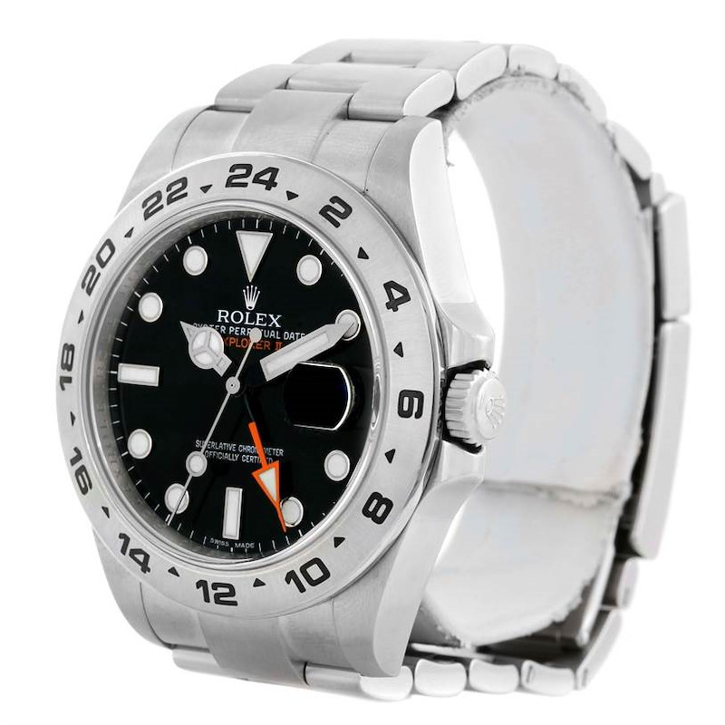 Rolex Explorer II Mens Stainless Steel Black Dial Watch 216570 SwissWatchExpo