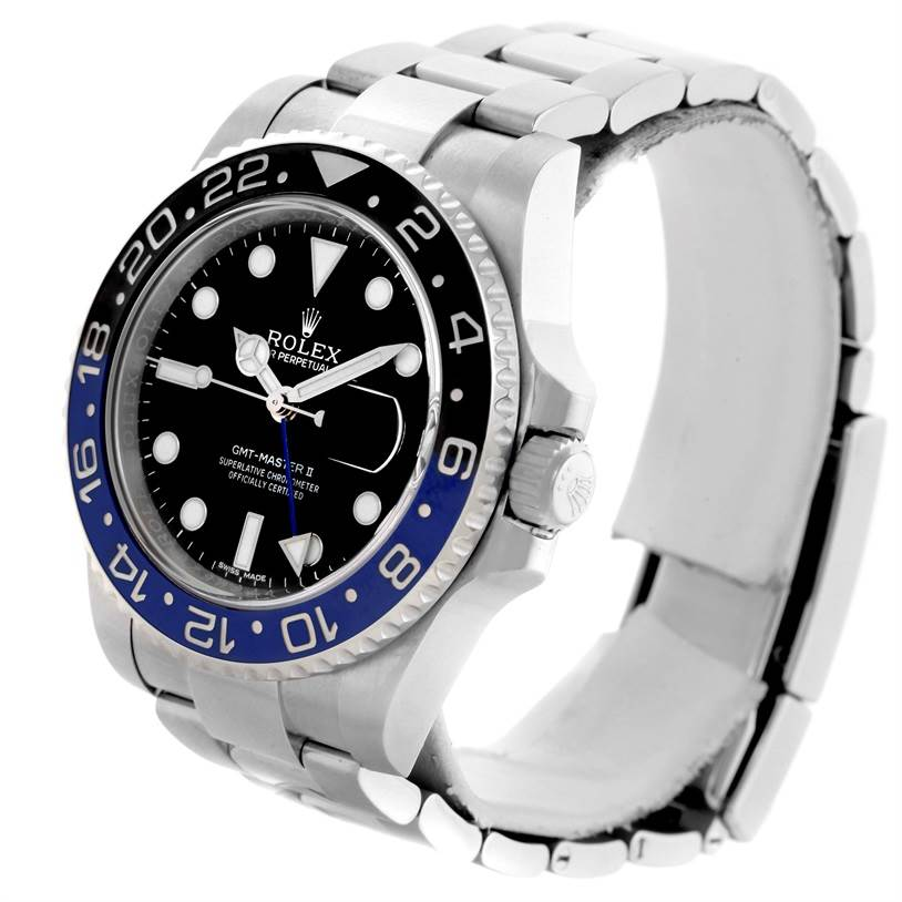 10849 Rolex GMT Master II Batman Blue Black Ceramic Mens Watch 116710 SwissWatchExpo