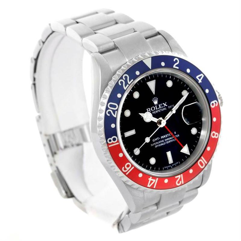 Rolex GMT Master II Error Dial Pepsi Bezel Mens Watch 16710 SwissWatchExpo