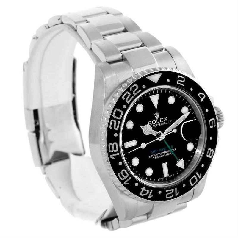 Rolex GMT Master II Ceramic Bezel Stainless Steel Watch 116710BKSO SwissWatchExpo