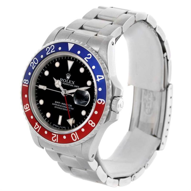 Rolex GMT Master Red Blue Pepsi Bezel Mens Watch 16700 Watch Unworn SwissWatchExpo