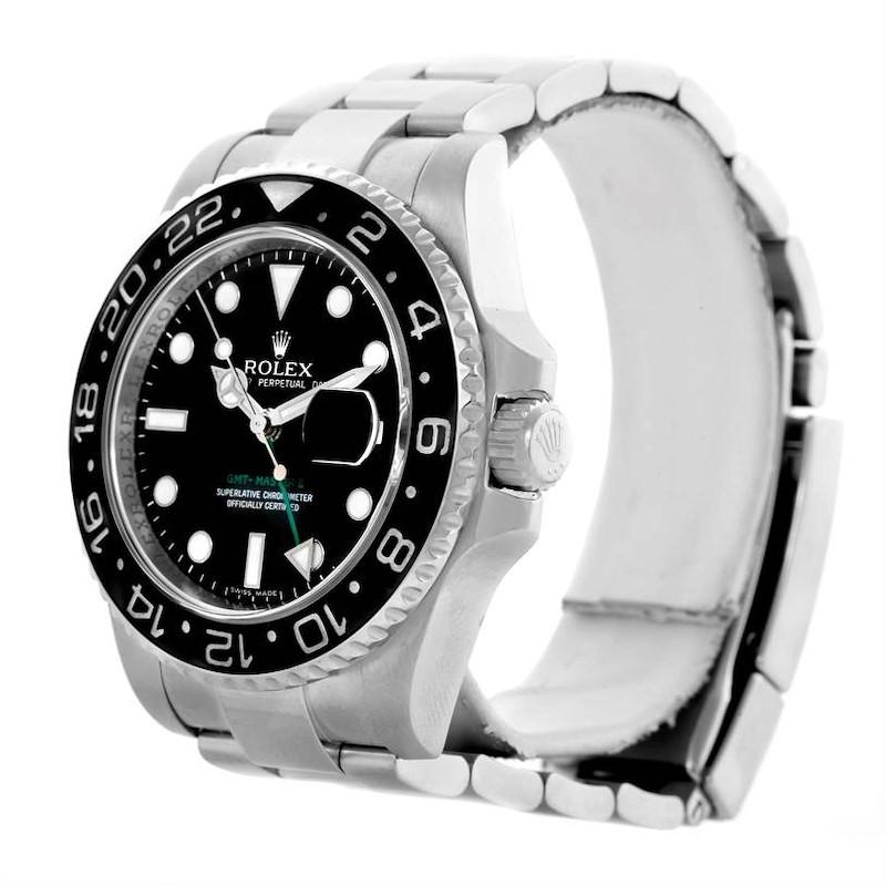 Rolex GMT Master II Ceramic Bezel Mens Stainless Steel Watch 116710 SwissWatchExpo