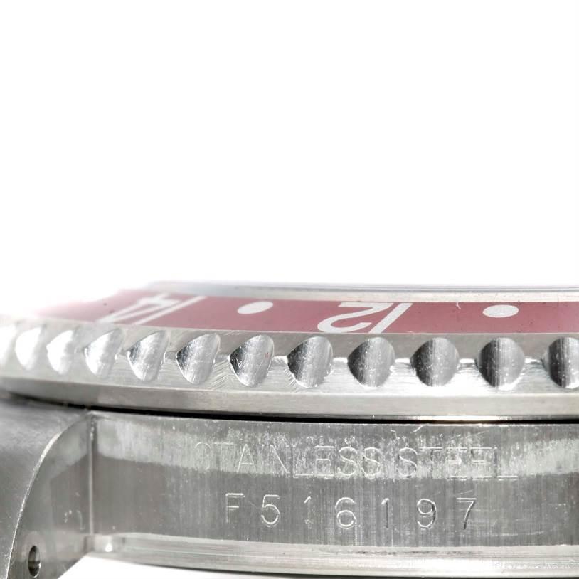 10768 Rolex GMT Master II Black Red Coke Bezel Automatic Mens Watch 16710 SwissWatchExpo