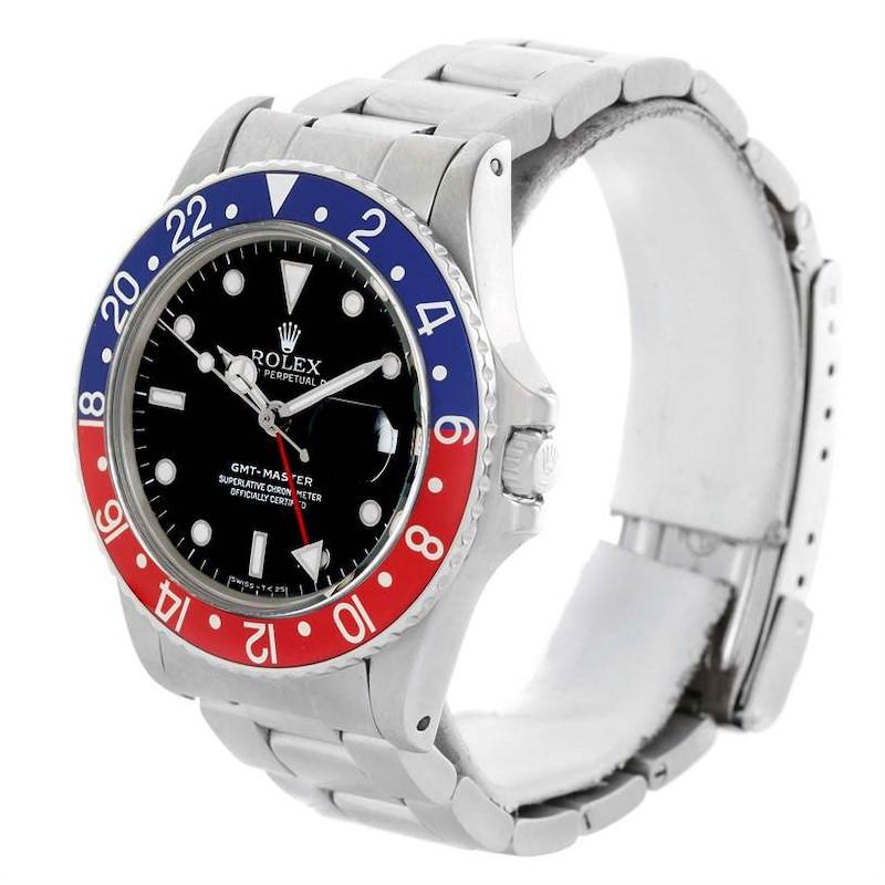 Rolex GMT Master Vintage Steel Mens Watch 16750 Year 1985 SwissWatchExpo