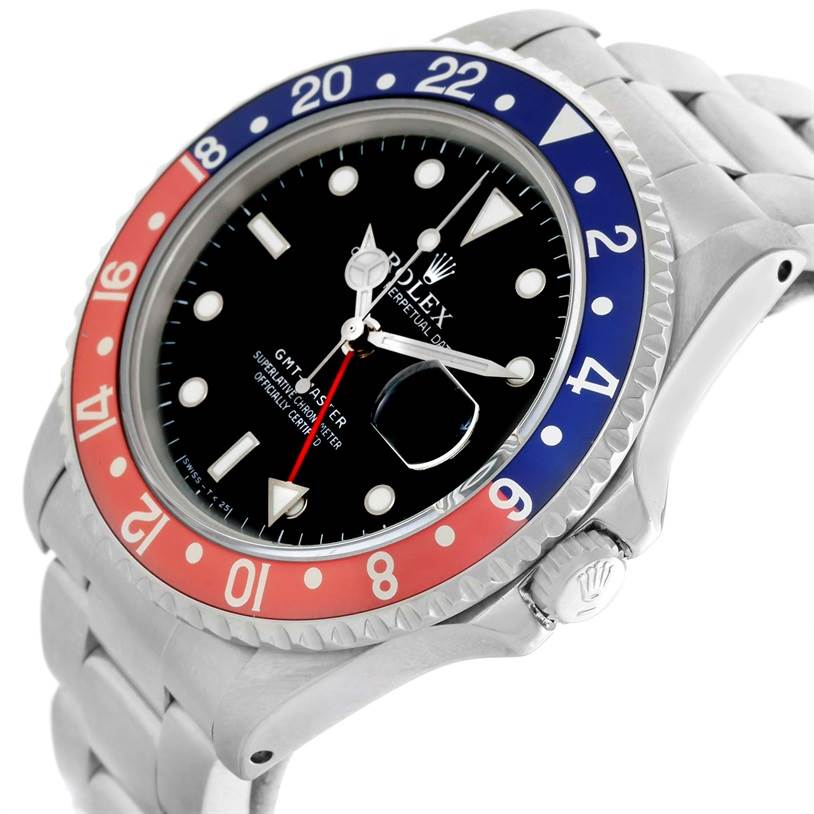 11098 Rolex GMT Master Red Blue Pepsi Bezel Date Mens Watch 16700 SwissWatchExpo