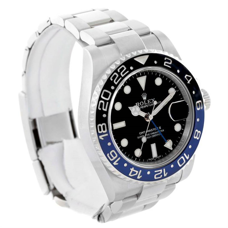 Rolex GMT Master II Batman Blue Black Ceramic Mens Watch 116710 SwissWatchExpo