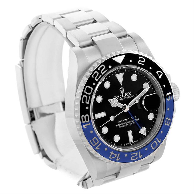 Rolex GMT Master II Batman Blue Black Ceramic Mens Watch 116710 Year 2016 SwissWatchExpo
