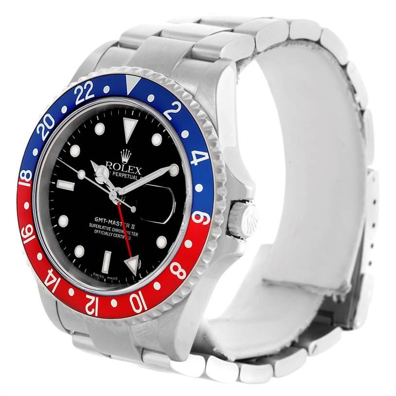 Rolex GMT Master II Blue Red Pepsi Bezel Mens Watch 16710 Year 2005 SwissWatchExpo