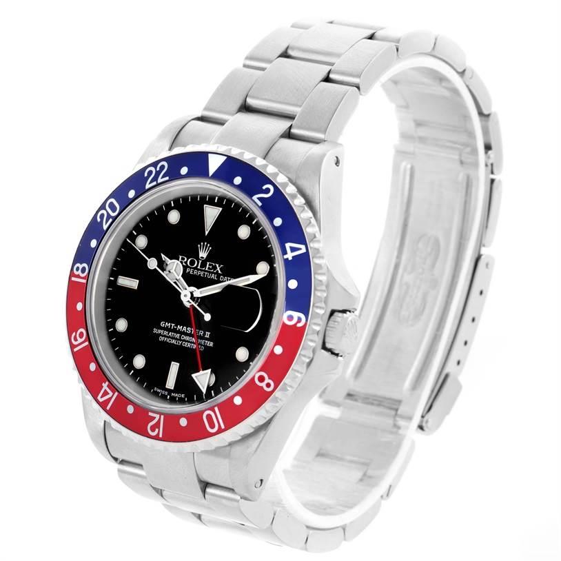 Rolex GMT Master II Blue Red Pepsi Bezel Mens Watch 16710 Year 2002 SwissWatchExpo