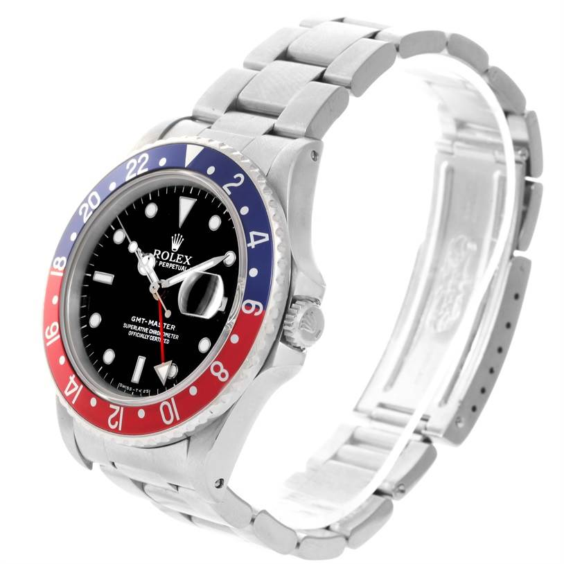 11930 Rolex GMT Master Red Blue Pepsi Bezel Automatic Mens Watch 16700 SwissWatchExpo