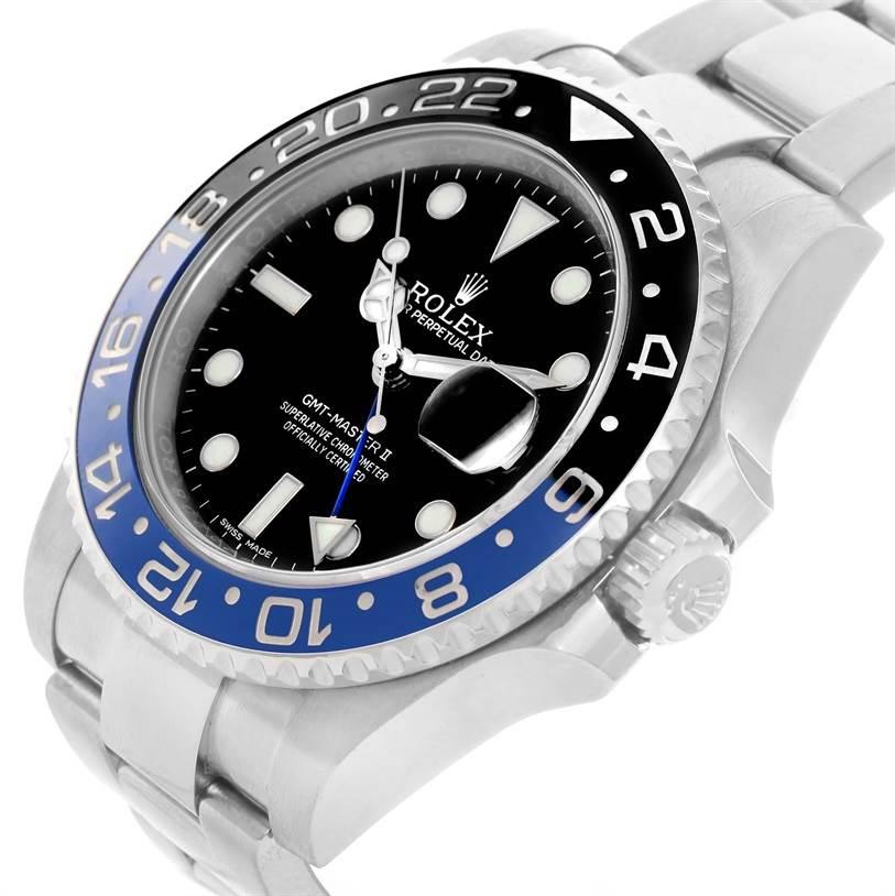 Rolex GMT Master II Batman Blue Black Ceramic Watch 116710 Box Papers SwissWatchExpo