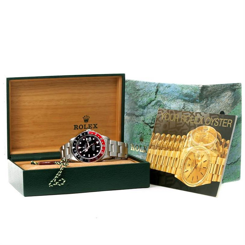 Rolex GMT Master Red Black Coke Bezel Automatic Mens Watch 16700 SwissWatchExpo