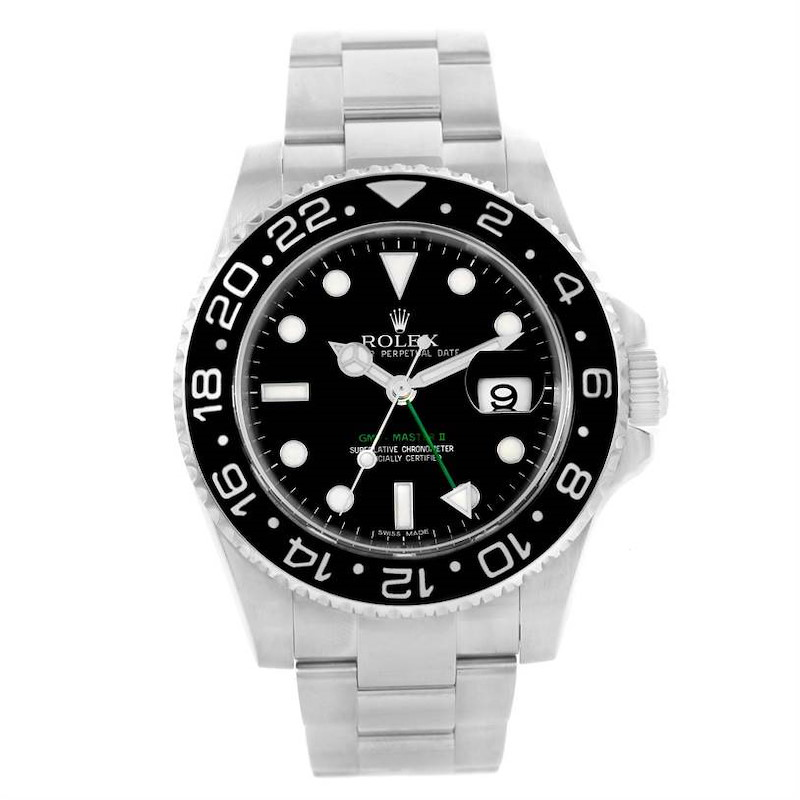 Rolex GMT Master II Steel Ceramic Automatic Mens Watch 116710 SwissWatchExpo