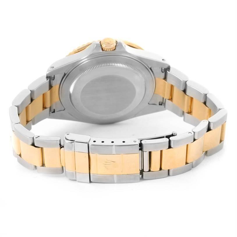 Rolex GMT Master II Mens 18k Yellow Gold Black Dial Watch 16713 SwissWatchExpo