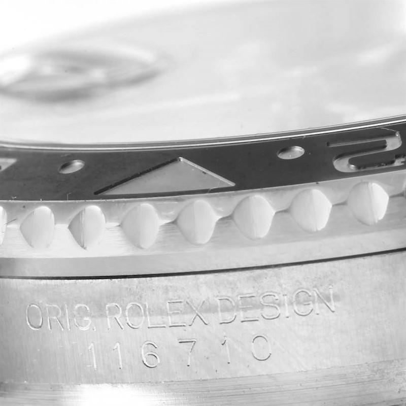 Rolex GMT Master II Ceramic Bezel Steel Mens Watch 116710 Box Papers SwissWatchExpo