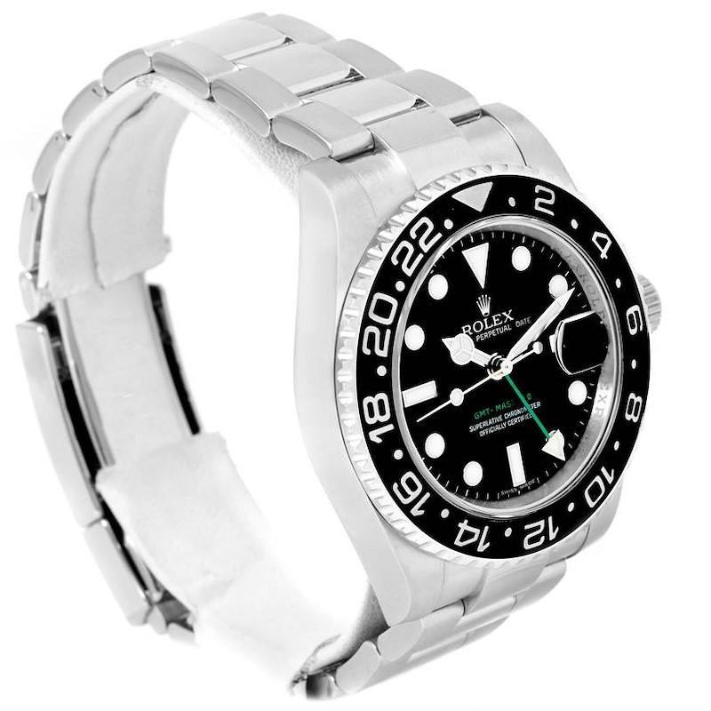 Rolex GMT Master II Stainless Steel Ceramic Bezel Watch 116710BKSO SwissWatchExpo
