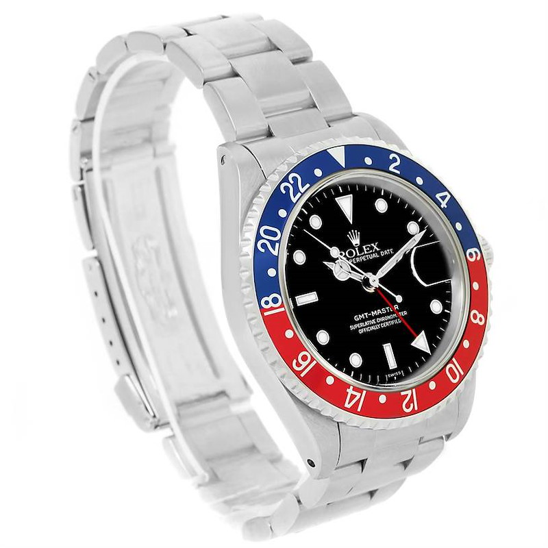 Rolex GMT Master Red Blue Pepsi Bezel Automatic Mens Watch 16700 SwissWatchExpo