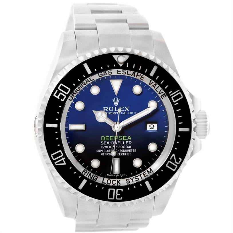 12314 Rolex Seadweller Deepsea D-Blue Dial Steel Mens Watch 116660  SwissWatchExpo