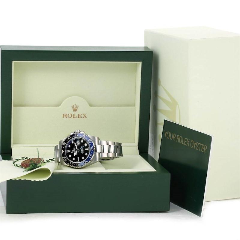 Rolex GMT Master II Batman Blue Black Ceramic Mens Watch 116710 SwissWatchExpo