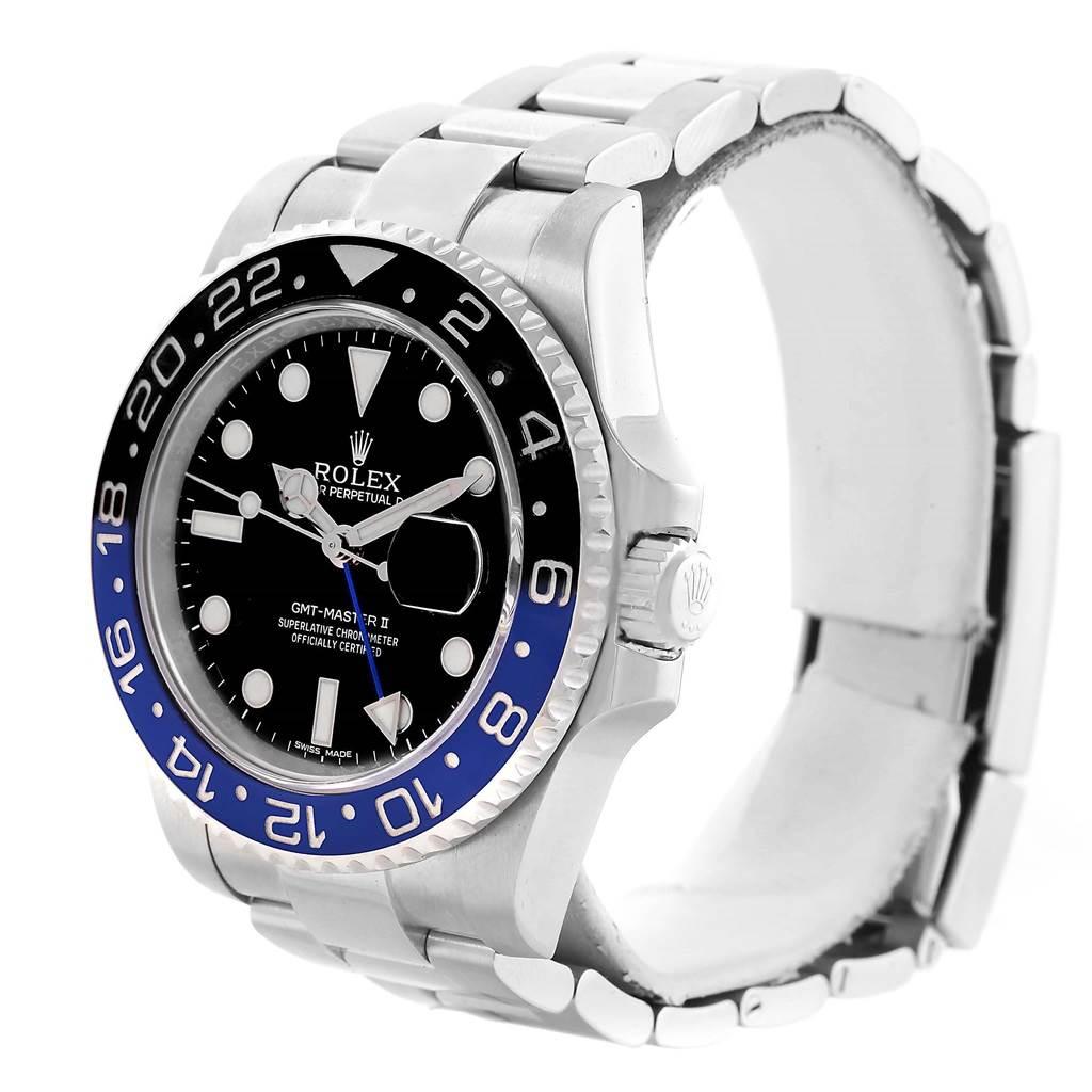 a3dfa0647af 13832 Rolex GMT Master II Batman Blue Black Ceramic Mens Watch 116710  SwissWatchExpo .