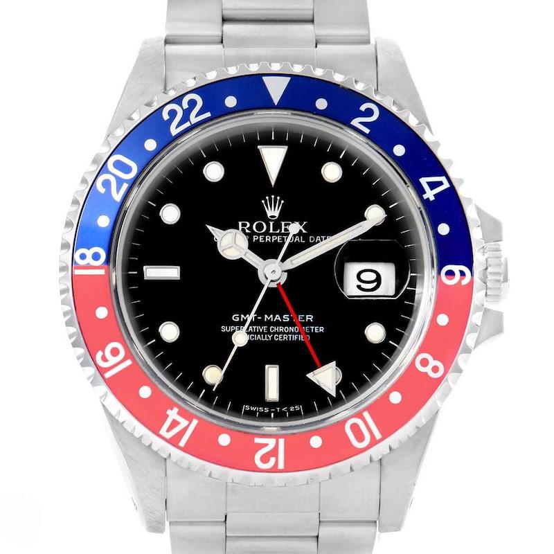 Rolex GMT Master Blue Red Pepsi Bezel Steel Watch 16700 Box Papers SwissWatchExpo