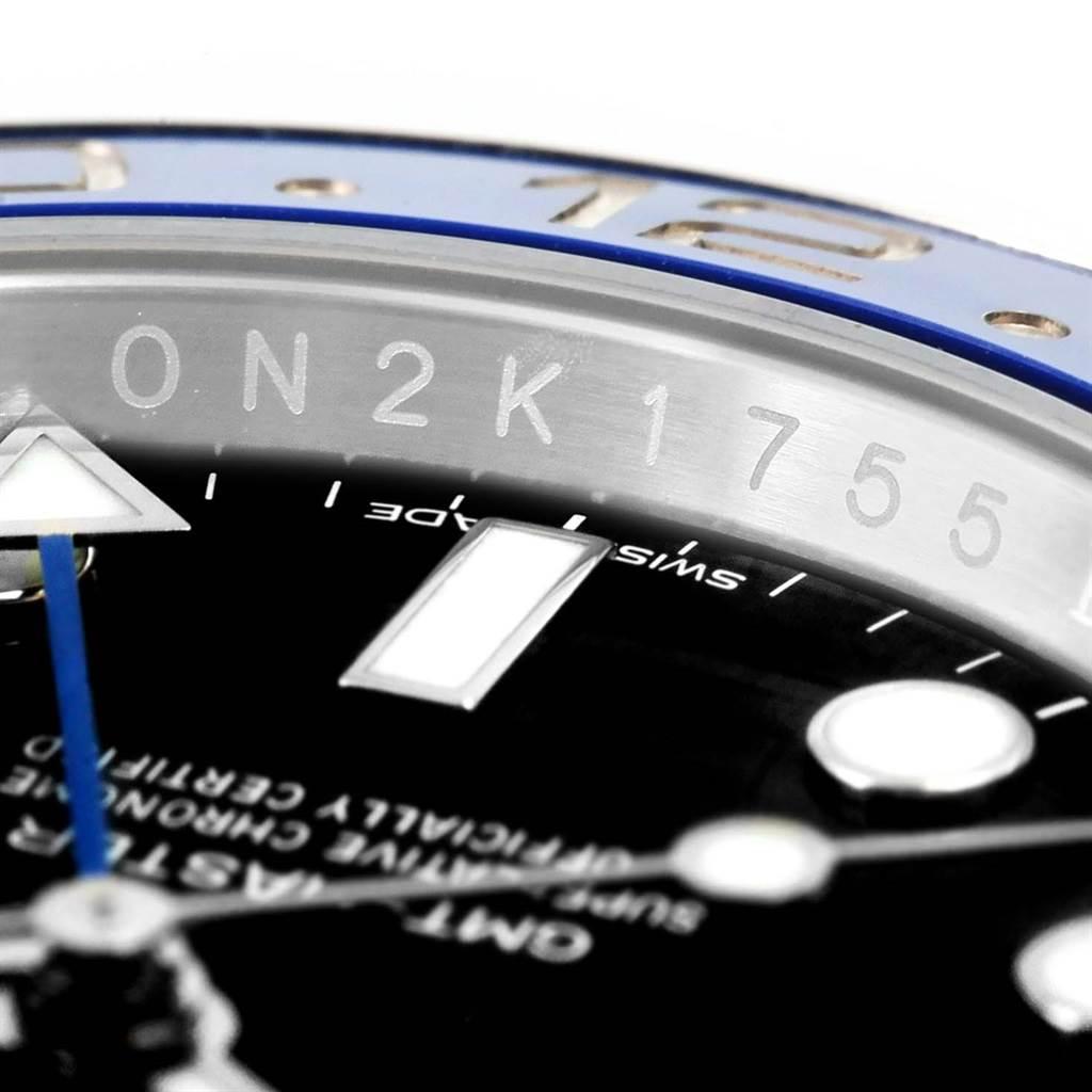 Rolex GMT Master II Batman Blue Black Bezel Steel Mens Watch 116710 SwissWatchExpo