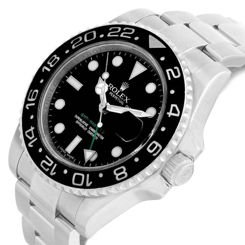 Rolex GMT Master II Steel Ceramic Bezel Mens Watch 116710 Box Papers SwissWatchExpo