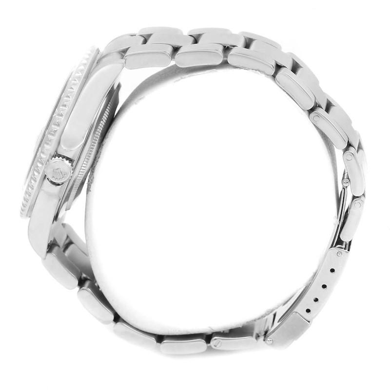 Rolex GMT Master II Black Bezel Stainless Steel Mens Watch 16710 SwissWatchExpo