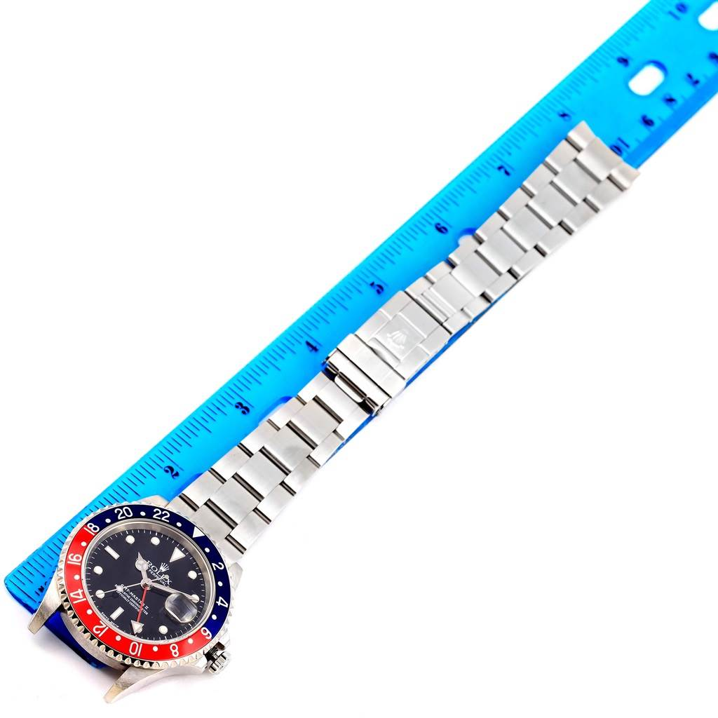 14291 Rolex GMT Master II Blue Red Pepsi Bezel Steel Mens Watch 16710 SwissWatchExpo