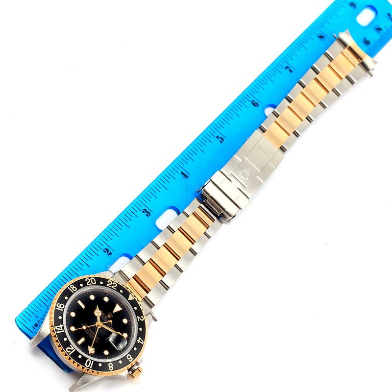 Rolex GMT Master II Yellow Gold Oyster Bracelet Mens Watch 16713 SwissWatchExpo