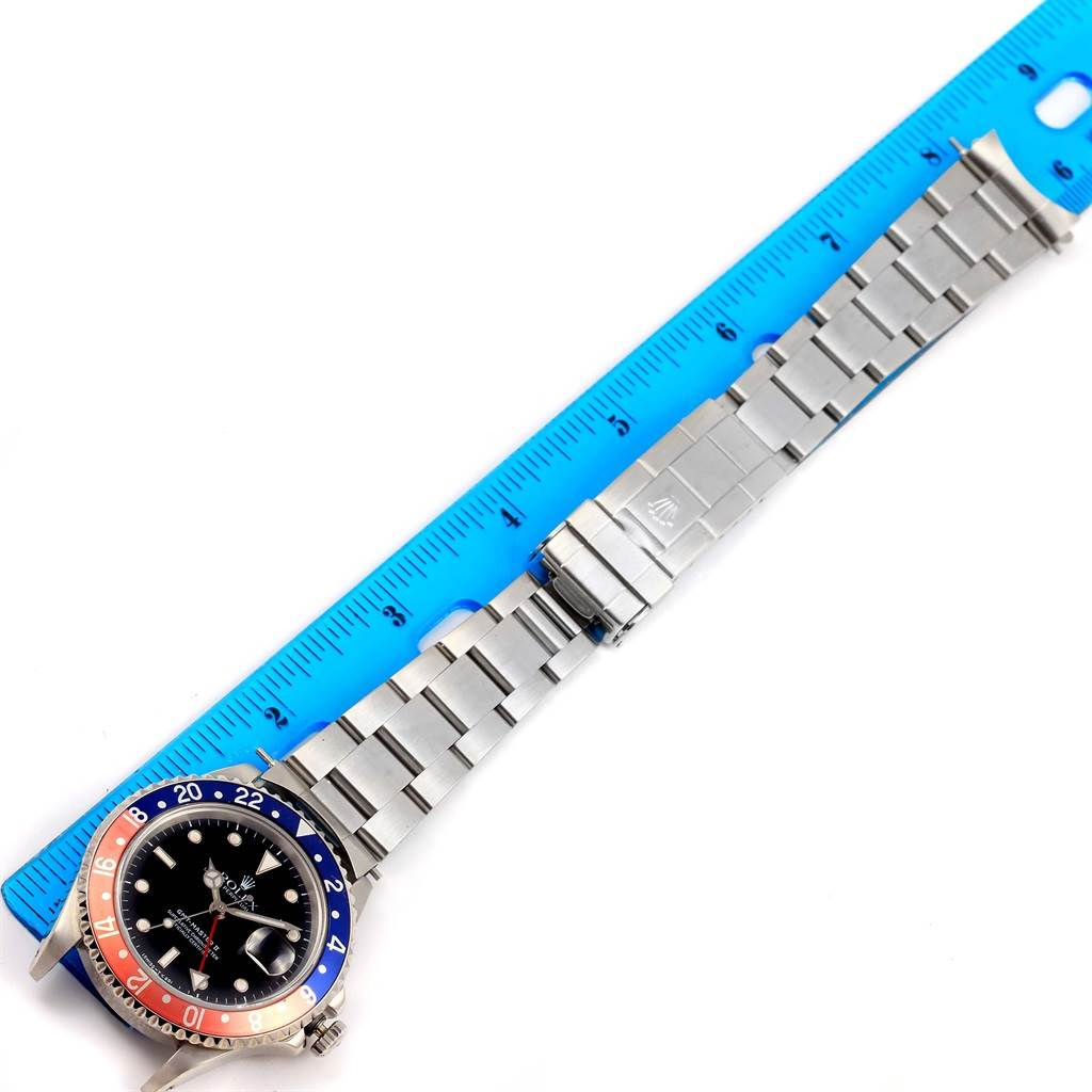Rolex GMT Master II Pepsi Bezel Steel Automatic Mens Watch 16710 SwissWatchExpo