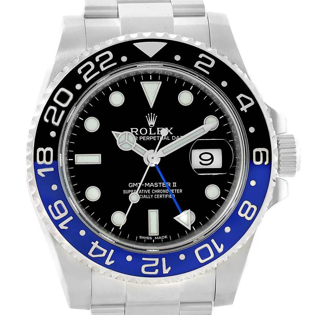 Rolex GMT Master II Batman Ceramic Bezel Mens Watch 116710 Box Papers