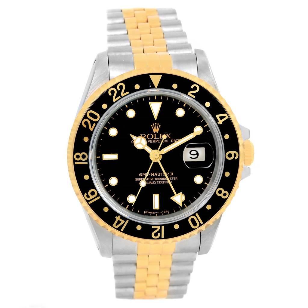 rolex gmt master ii yellow gold steel jubilee bracelet