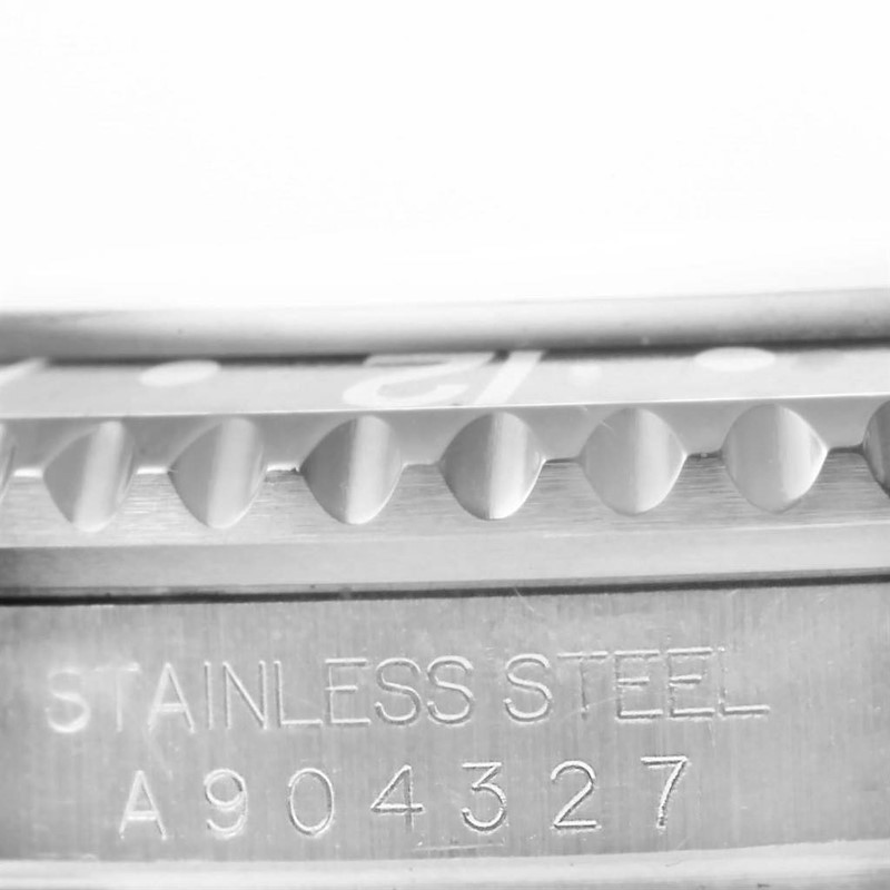 Rolex GMT Master II Black Bezel Steel Mens 40mm Watch 16710 SwissWatchExpo