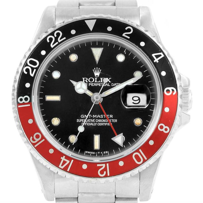 Rolex GMT Master Coke Bezel Spider Dial Mens Watch 16700 SwissWatchExpo