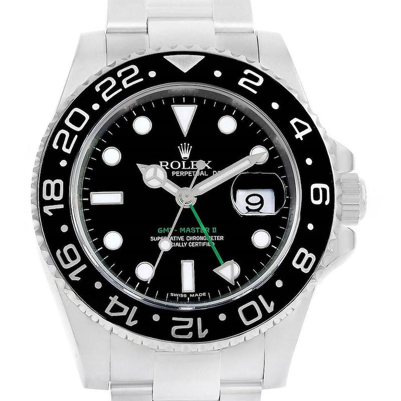 Rolex GMT Master II Ceramic Bezel 40mm Steel Mens Watch 116710 SwissWatchExpo