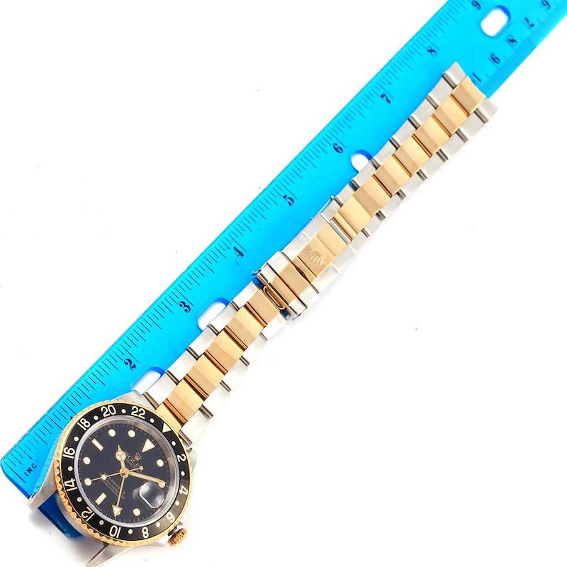 Rolex GMT Master II Yellow Gold Steel Oyster Bracelet Watch 16713 SwissWatchExpo