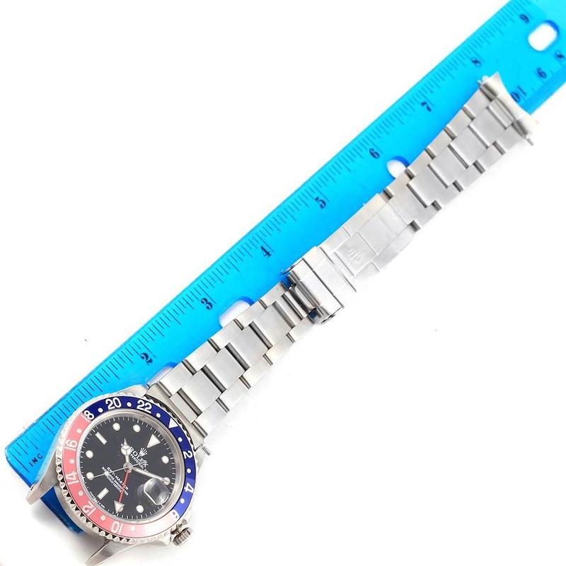 Rolex GMT Master Blue Red Pepsi Bezel Steel Mens Watch 16700 SwissWatchExpo