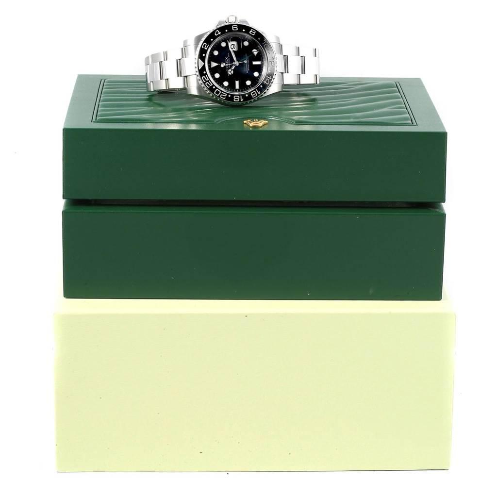 Rolex GMT Master II 40mm Black Dial Steel Mens Watch 116710 Box SwissWatchExpo