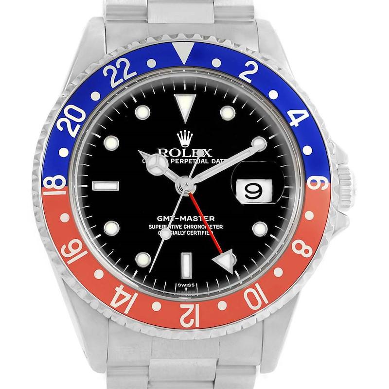 Rolex GMT Master Blue Red Pepsi Bezel 40mm Mens Watch 16700 SwissWatchExpo