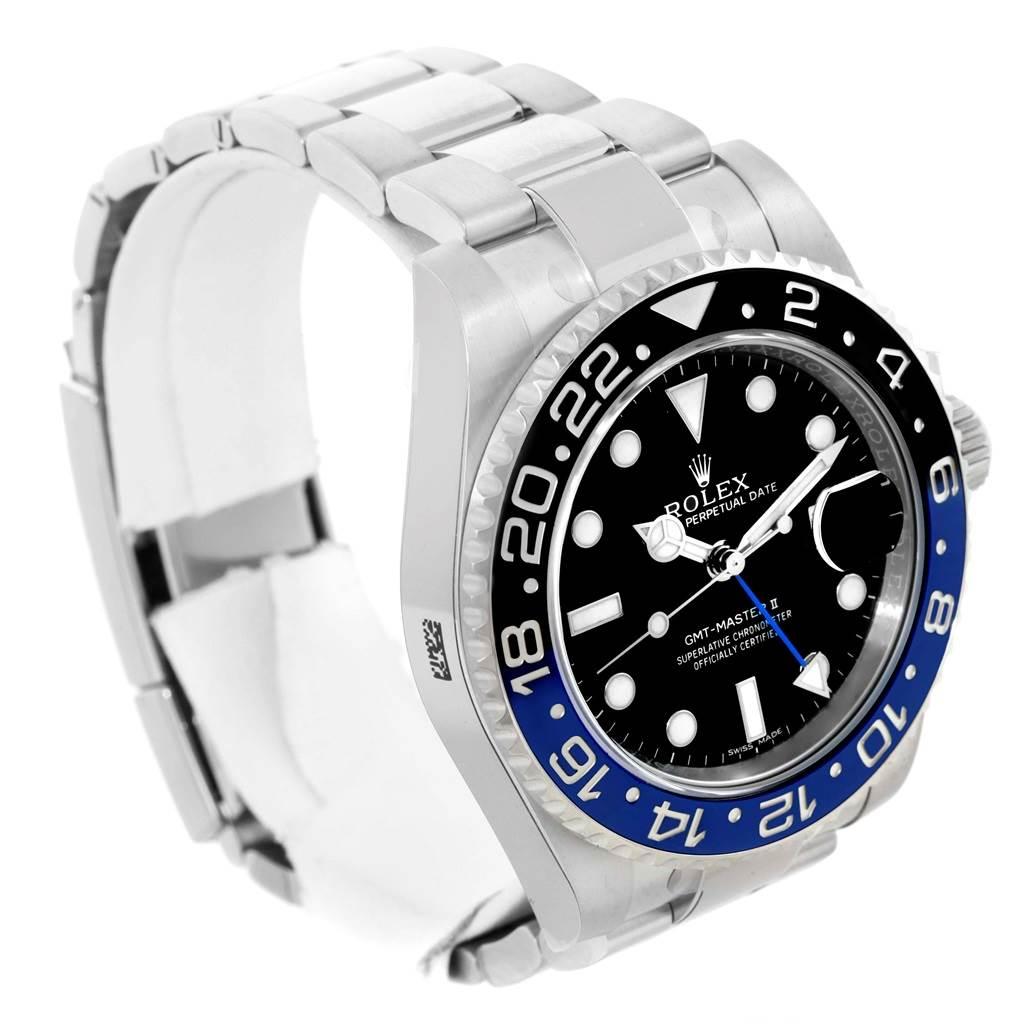 Rolex GMT Master II Batman Blue Black Bezel Mens Watch 116710 Unworn SwissWatchExpo