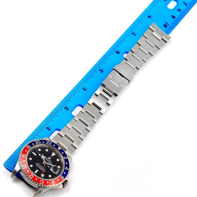 Rolex GMT Master II Blue Red Pepsi Bezel Steel Automatic Watch 16710 SwissWatchExpo