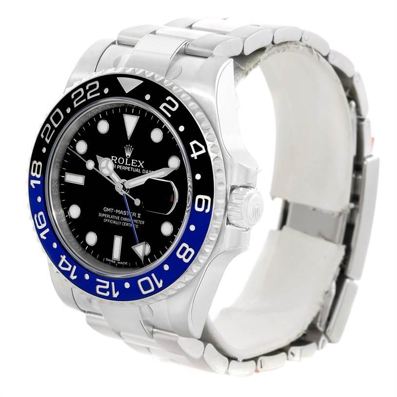 Rolex GMT Master II Batman Blue Black Ceramic Mens Watch 116710 Unworn SwissWatchExpo