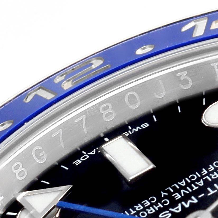 19320 Rolex GMT Master II Batman Blue Black Bezel Mens Watch 116710 SwissWatchExpo