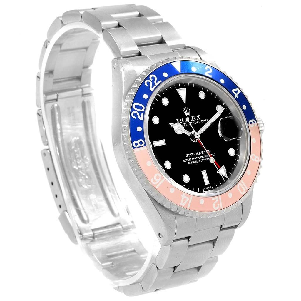 19441 Rolex GMT Master Blue Red Pepsi Bezel Steel Mens Watch 16700 Box SwissWatchExpo