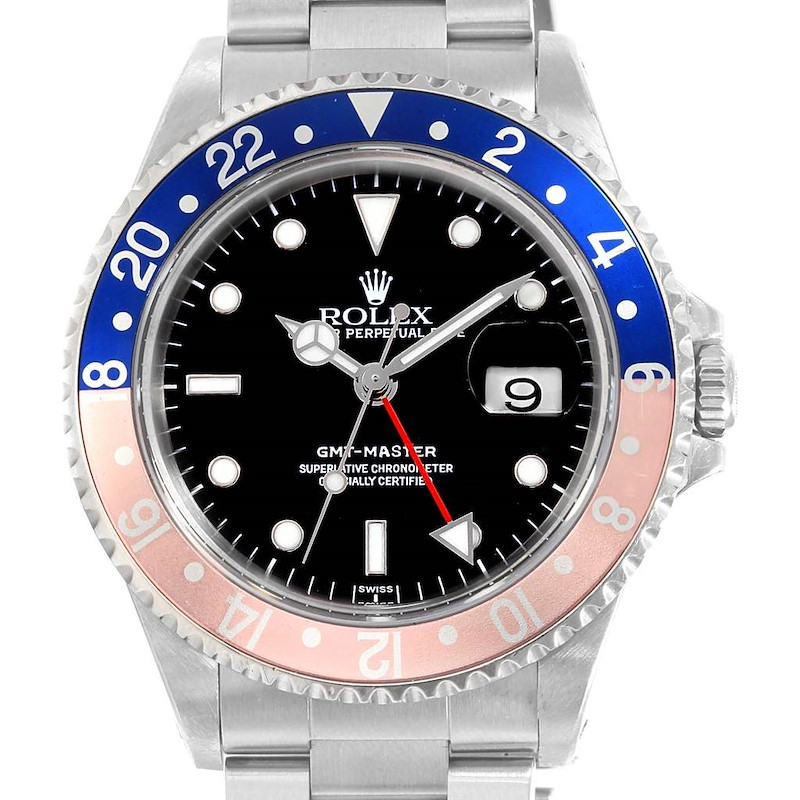 Rolex GMT Master Blue Red Pepsi Bezel Steel Mens Watch 16700 Box SwissWatchExpo
