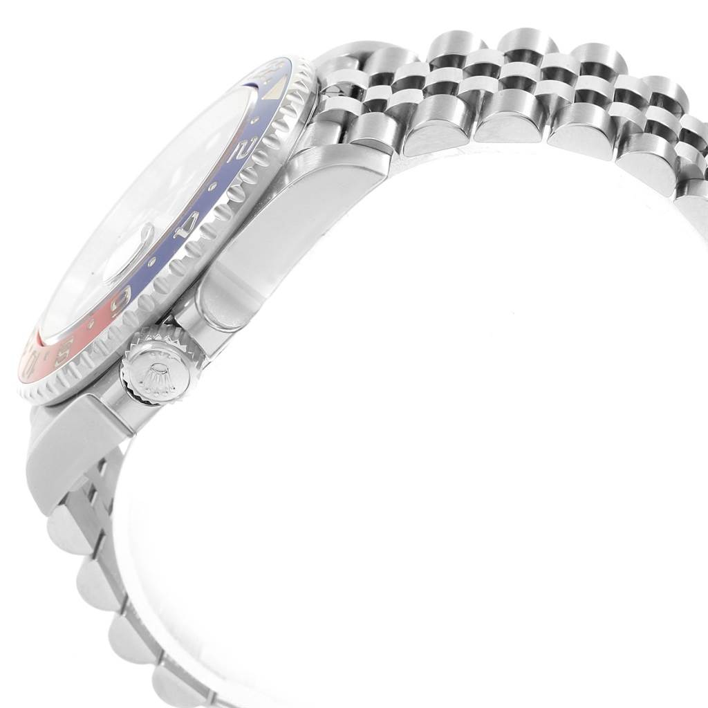 19636 Rolex GMT Master II Pepsi Bezel Jubilee Steel Watch 126710 Unworn SwissWatchExpo