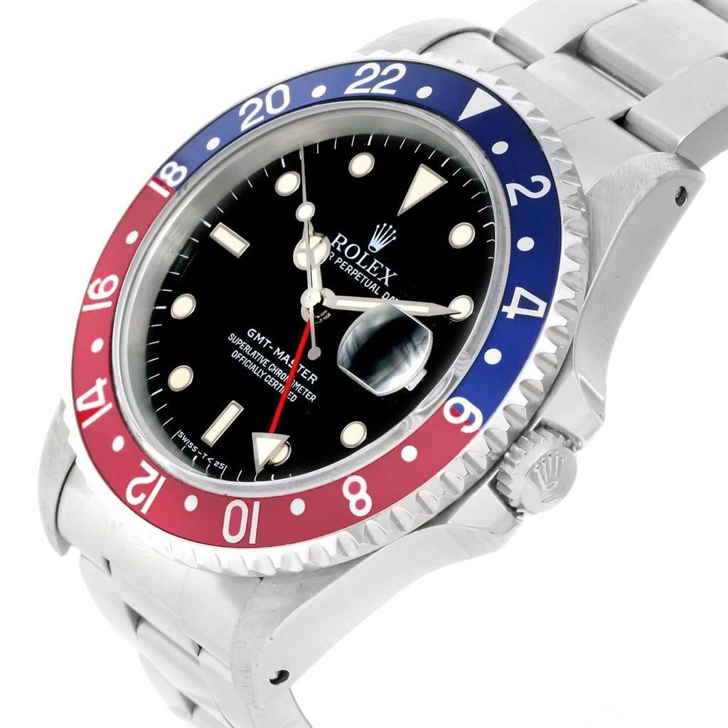 Rolex GMT Master Blue Red Pepsi Bezel Mens Watch 16700 Box Papers SwissWatchExpo