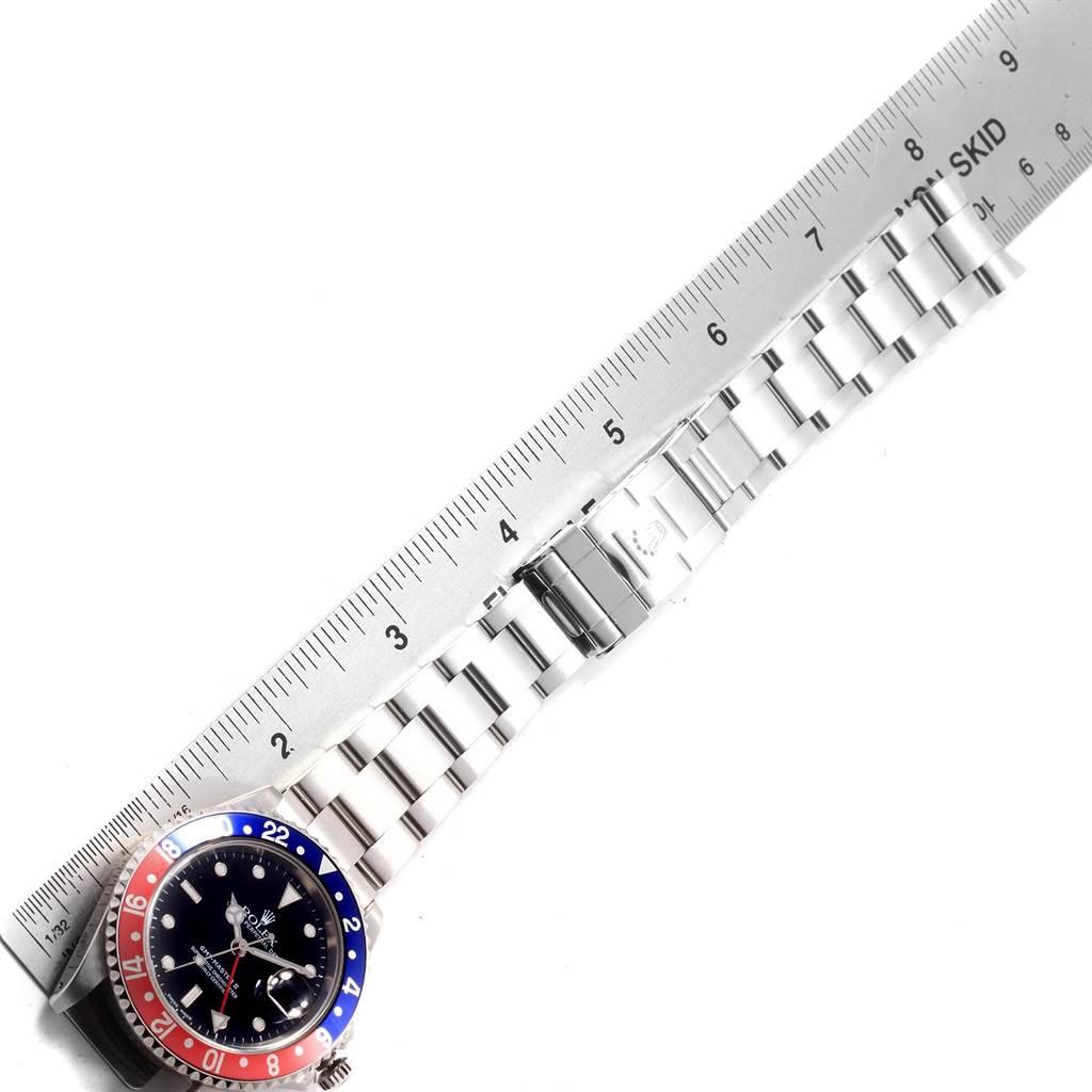 Rolex GMT Master II 40 Blue Red Pepsi Bezel Mens Watch 16710 SwissWatchExpo