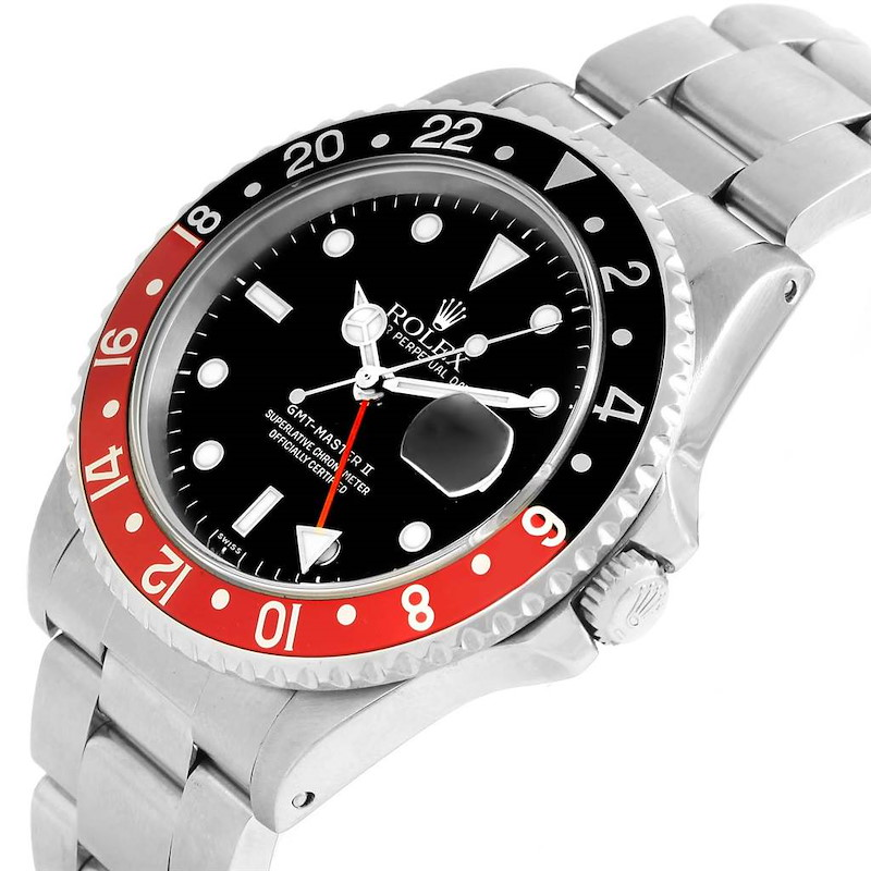 Rolex GMT Master II Coke Bezel Mens Watch 16710 Box Papers SwissWatchExpo